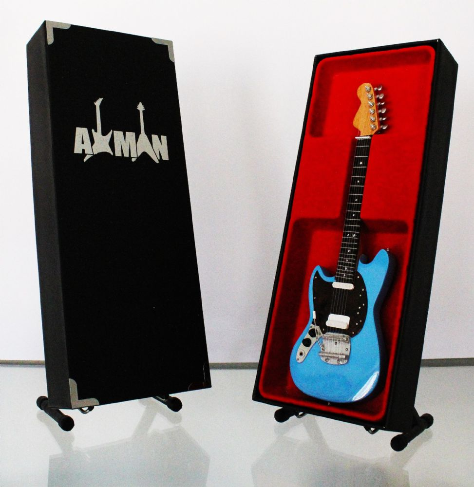 (Nirvana) Kurt Cobain: Fender Mustang - Miniature Guitar Replica (UK Seller)